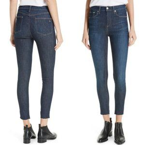 Rag & Bone Raw Hem 10 Inch Ankle Skinny Jeans
